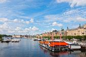 Nábřeží stockholm. — Stock fotografie