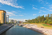 New area of ??Helsinki, Finland. — Stock Photo