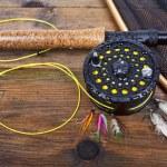Fly fishing — Stock Photo