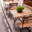 Street view of a coffee terrace — Stock Photo