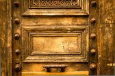 Wooden door grunge — Photo