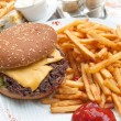 Cheese burger — Stockfoto