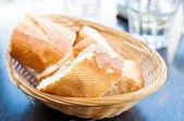 Bread in basket — Stockfoto