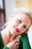Smiling young attractive woman — Стоковое фото