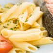 Pasta and smoked salmon — Foto de Stock