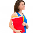 Woman hold a folder — Stock Photo #11599265