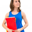 Woman hold a folder — Stock Photo #11599270