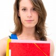 Woman with a folder — Stock Photo #11599277