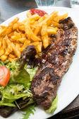 Juicy steak beef — Stock Photo