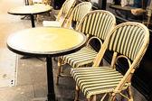 Empty coffee terrace — Stock Photo