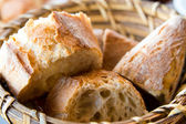 Bread in basket — Stock fotografie