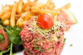 Tasty tartare(Raw beef) — Foto de Stock