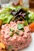 Tasty tartare(Raw beef) — Stock Photo