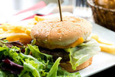 American cheese burger — Stockfoto