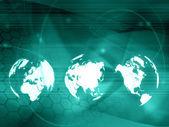 世界地图技术风格 — 图库照片