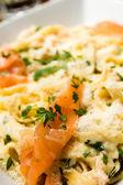 Pasta met zalm — Stockfoto