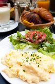 Omelet met ham — Stockfoto