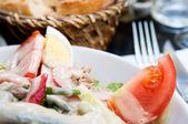 Fresh fruits salad — Foto Stock