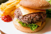 Cheese burger — Stock Photo