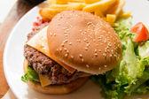 Cheese burger — Stok fotoğraf