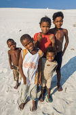 Malagasy children on the beach — Stock Photo