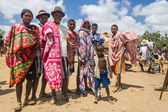 Group of Malagasy mens — Stock Photo