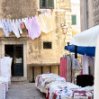 Small street market - Dubrovnik. - Stock Photo