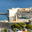 Aerial view on marina in Dubrovnik. — Stock Photo
