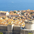 Panorama of Dubrovnik old town. - Stock Photo