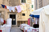 Small street market - Dubrovnik. — Stock Photo