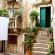 Trogir - courtyard. — Stock Photo
