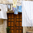 Brown wooden door - Trogir, Croatia — Stock Photo