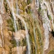 Aerial view on big waterfall - Plitivice lakes. — Stock Photo #11025037