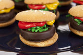 Hamburger Cookie Treats — Stock Photo