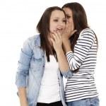 Gossip whispering — Stock Photo