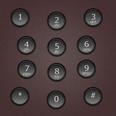 Phone buttons — Stock Photo