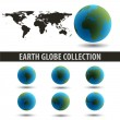 Stock Photo: EARTH_GLOBE_COLLECTION_GREEN-BLUE