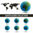 EARTH_GLOBE_COLLECTION_GREEN-BLUE — Stock Photo