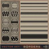 Borders_set_1 — Stock Photo
