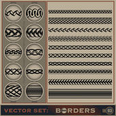 Borders_set_3 — Stock Photo