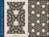 Padrão sem emenda-preto e branco 6 — Foto Stock