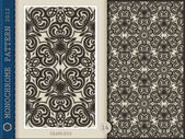 Seamless Pattern-monochrome 14 — Stock Photo