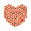 Royalty-Free Stock Photo: Color pencils arrange in heart shape isolated on white background close up