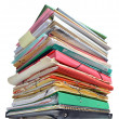 Stock Photo: Stack of folders