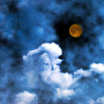 Moon and stars — Stock Photo