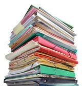 Stos folderów — Zdjęcie stockowe
