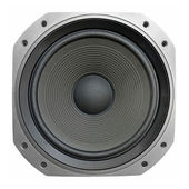 Low frequency audio speaker — Stock fotografie