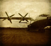 Old aircraft — Foto Stock