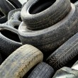 Pile of old tires — Stock Photo