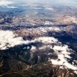 View of the mountains from the plane — Foto de Stock
